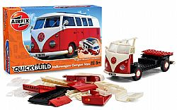 AIRFIX - QuickBuild - VW Camber Van Red, 6017
