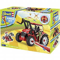 REVELL - Κατασκευή JUNIOR KIT, Tractor with Loader, 51pcs, 00815