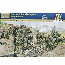 ITALERI - Στρατιωτάκια 1:72 - WW2 German Paratroopers Tropical, 6134