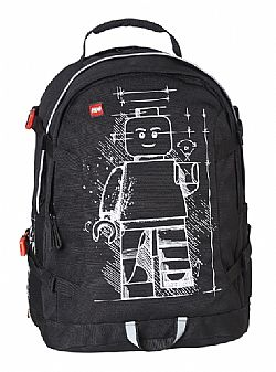 LEGO - Backpack TECH TEEN 25L - Minifigures Black, 20041-1715
