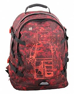 LEGO - Backpack TECH TEEN 25L - Minifigures Red, 20041-1926