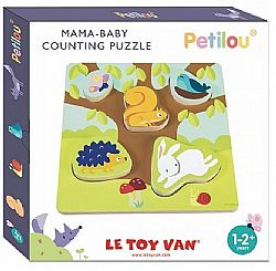 LE TOY VAN - PETILOU - Ξύλινο Ενσφήνωμα *Mama Baby Counting Puzzle*, PL090