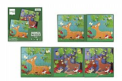 SCRATCH EUROPE - Παζλ Μαγνητικό 2x20pcs Puzzle to Go - Forest, 6181155