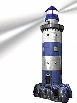 RAVENSBURGER - Παζλ 3D 216τεμ - LED Ed - Lighthouse, 12577