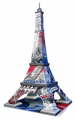 RAVENSBURGER - Παζλ 3D 216τεμ - FLAG Ed - The Eiffel Tower, 12580