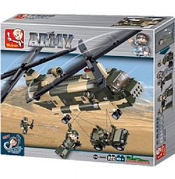 SLUBAN - ARMY - Chinook Helicopter 520pcs, 0508