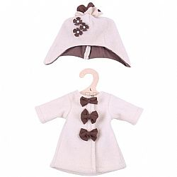 BIG JIGS - Ρούχα για Κούκλα 38cm - Beige Coat with Hat, 525