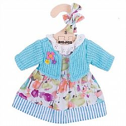 BIG JIGS - Ρούχα για Κούκλα 28cm - Turquiouse Cardigan & Dress, 500